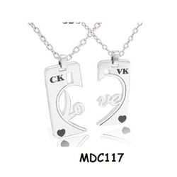 Dây chuyền cặp tình nhân giá rẻ khắc tên MDC117