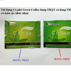 Cách phân biệt CAFE GIẢM CÂN  green coffee của mỹ thật và giả