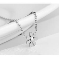 Dây chuyền ti-tan hoa 7 cánh màu trắng cao cấp giá rẻ