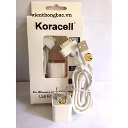 Bộ cáp sạc Koracell cho iPhone 4 4s, 5 5s