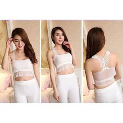 Áo 2 dây ren nữ dáng ngắn, thiết kế kiểu dáng gợi cảm-A023