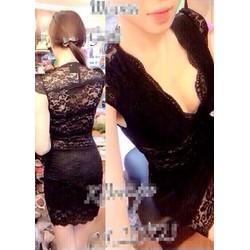 Đầm Body Ren Kim Móm MT-D895