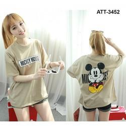 áo thun cotton 4 chiều in hình Mickey