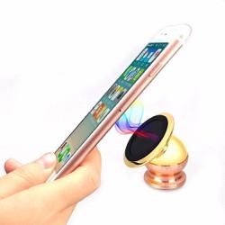 Giá đỡ điện thoại mạ vàng magnetic 360 trên ô tô