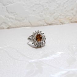 Nhẫn mạ vàng đính đá sang trọng