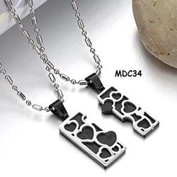 Dây chuyền đôi inox khắc tên MDC34