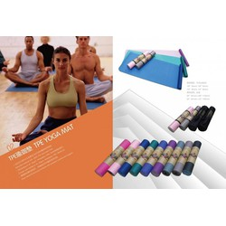 Thảm tập Gym và Yoga TPE cao cấp có túi đựng