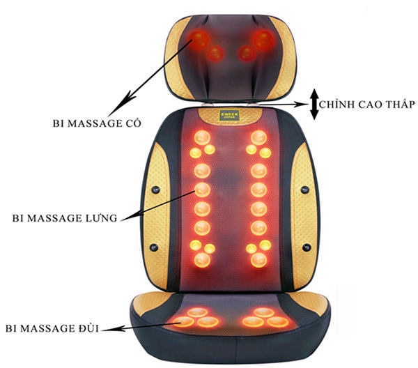 Đệm massage toàn thân 4D nhật bản 30 viên bi mát xa 1