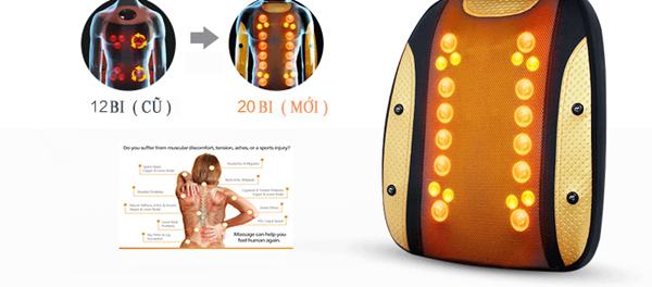 Đệm massage toàn thân 4D nhật bản 30 viên bi mát xa 6