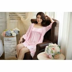 Áo choàng ngủ kèm váy TK593 màu hồng dễ thương