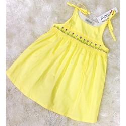 [Hàng cao cấp, mẫu thật như hình] Đầm Maccos 2 dây màu vàng