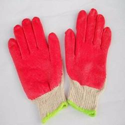 10 cặp găng tay bảo hộ phủ sơn đỏ