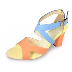 Giày Sandal Gót Vuông Nữ Nhiều Màu GV03056 - 3M