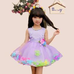 [Hàng thiết kế] Đầm voan công chúa chân viền hoa