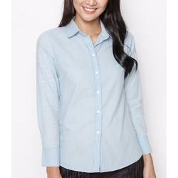 Áo somi dáng ôm MINT Basic màu xanh