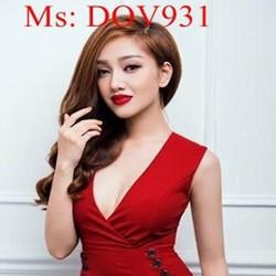Đầm ôm dáng xinh đẹp thiết kế cổ V và xẻ đùi quyến rũ DOV931