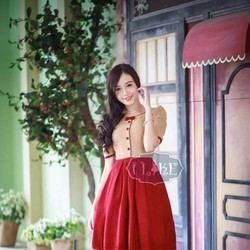 Đầm xòe nữ duyên dáng trẻ trung