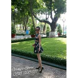 Set bộ áo croptop và chân váy hoa. Hàng Quảng Châu