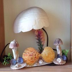 Quà tặng lưu niệm đèn ngủ handmade ốc biển