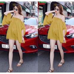 Đầm bẹt vai Minh Hằng