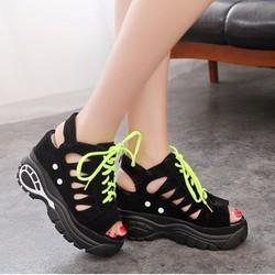 Giày Sandal đế xuồng nữ  tăng chiều cao hàng nhập - LN303