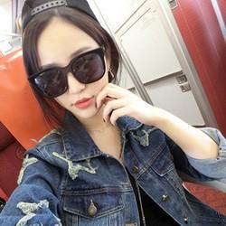 Áo khoác jeans nữ thời trang,họa tiết ngôi sao nổi bật-AK425