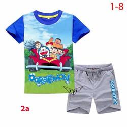 Bộ thun in 3D Doraemon và những người bạn - size 1-8
