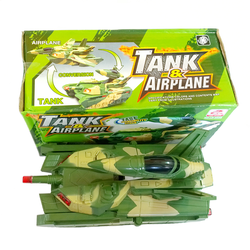 Đồ chơi biến hình 2 in 1 máy bay - xe hơi