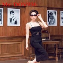 Đầm ôm 2 cúp ngực ngang thời trang sang trọng như ngọc trinh DOV936