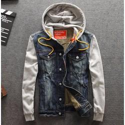 Áo khoác jeans nam cao cấp bụi bặm AKNC 10