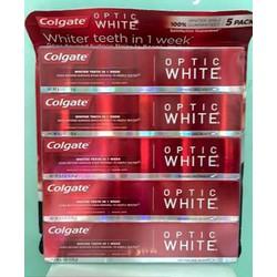 Set 5 Kem đánh răng tẩy trắng sau 7 ngày Colgate Optic White 5*178gr