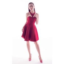 Đầm xòe đỏ dự tiệc dễ thương 1533