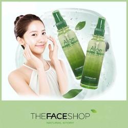 Xịt khoáng lô hội Aloe Fresh Soothing Mist The face shop