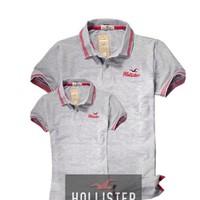 Áo thun CẶP Hollister bo sọc