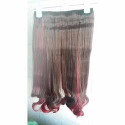 tóc kẹp line đỏ