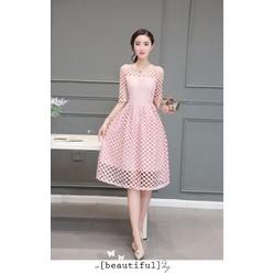Đầm nữ tay lửng thời trang, thiết kế mới hiện đại