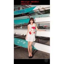 Đầm đuôi cá in hình cô gái
