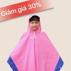 Áo mưa trẻ em pha màu size5
