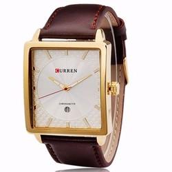 Đồng hồ nam dây da mặt vuông sang trọng