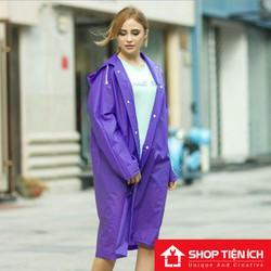 Áo Mưa Hàn Quốc Kiểu Dáng Sành Điệu Màu Tím