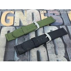 Dây đồng hồ vải nilon oDo quân đội bản rộng 22mm  - Mã số: D1611