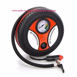 Máy bơm lốp xe hơi, xe máy mini có đồng hồ 12V