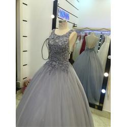 áo cưới xám hở lưng giá mềm