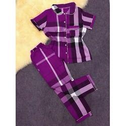 Set pjjama tay ngắn quần dài