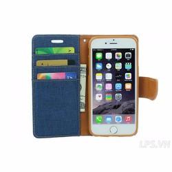 Bao da iPhone 4-4s hiệu Mercury mẩu Canvas - Màu đen