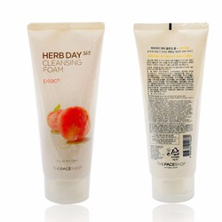 Sữa rửa mặt Herb day 365 cleansing foam TheFaceShop - Peach