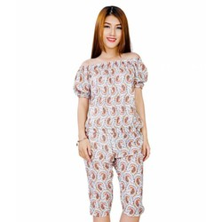 Đồ bộ nữ mặc nhà họa tiết dễ thương TZID42361