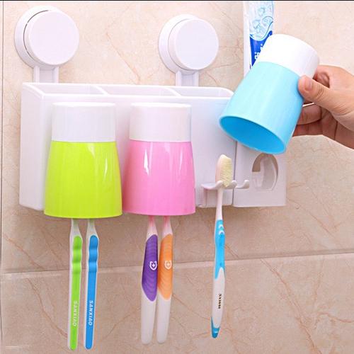 Dụng cụ nhả kem đánh răng kèm 3 cốc tự động