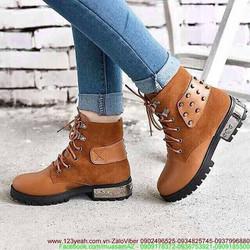Giày boot da nữ oxford chiến binh kiêu hãnh GUBB77