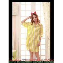 Đầm ngủ sọc phối màu xinh đẹp nổi bật